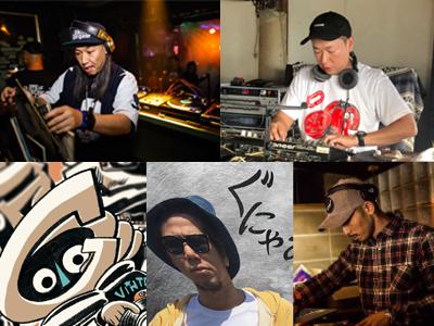 DJ DOPEMAN、OLEELOU、ロク、JAPAN、VENTEN